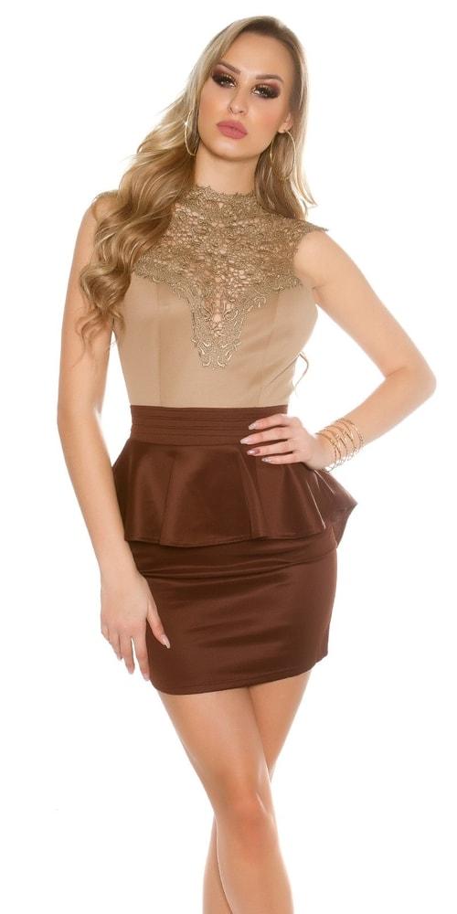 1aee52812987 Krátke čipkované šaty - L Koucla in-sat1432ca