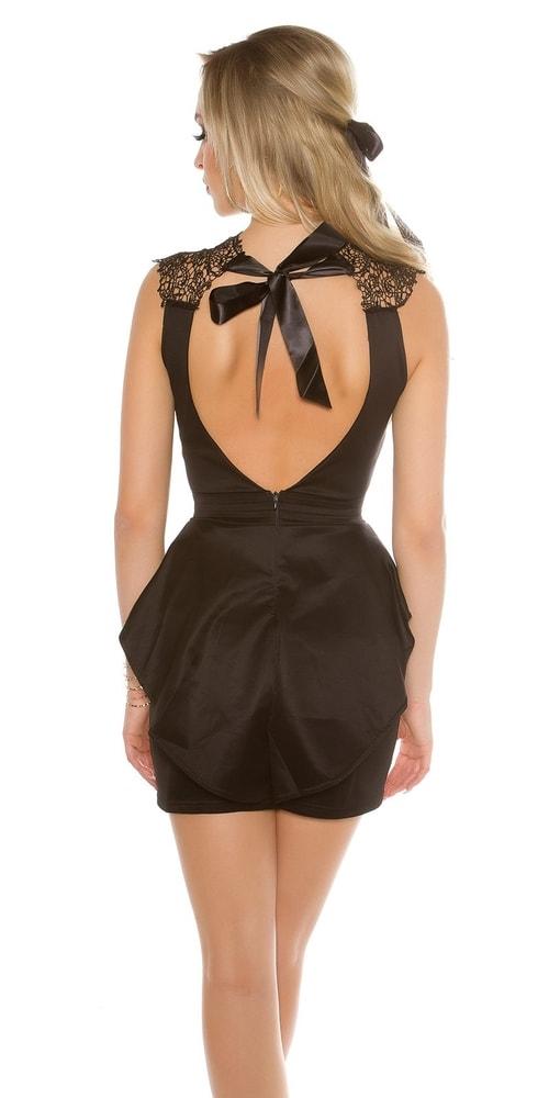 Krátké černé krajkové šaty - Koucla - Společenské šaty - i-moda.cz ae3474eeab
