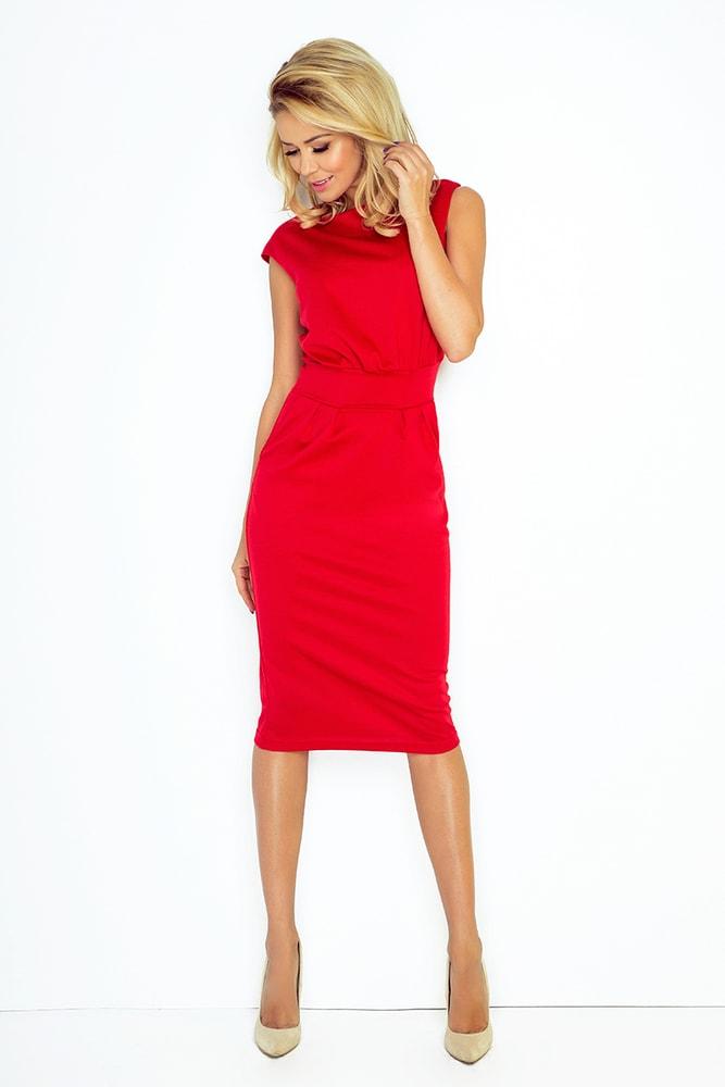 Červené dámske šaty - Numoco - Business šaty - vasa-moda.sk 5c5f9b0d62