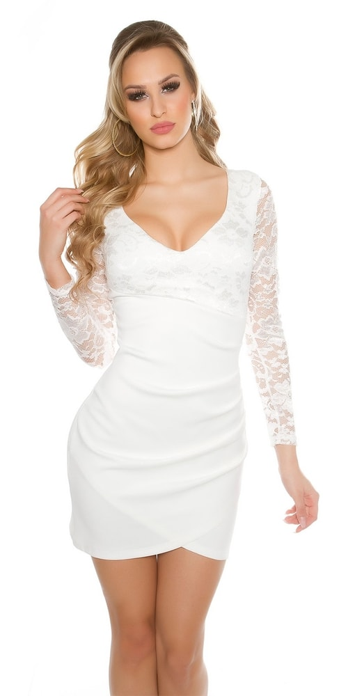 Spoločenské šaty s čipkou - Koucla - Večerné šaty a koktejlové šaty ... 6a021a6c513