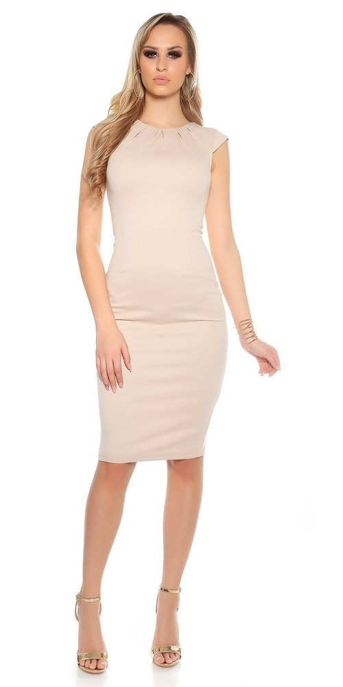 a41bd41be0c Béžové puzdrové šaty - Koucla - Večerné šaty a koktejlové šaty ...