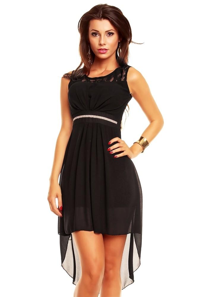 Černé dámské šaty - EU - Krátké plesové šaty - i-moda.cz 28e286685c