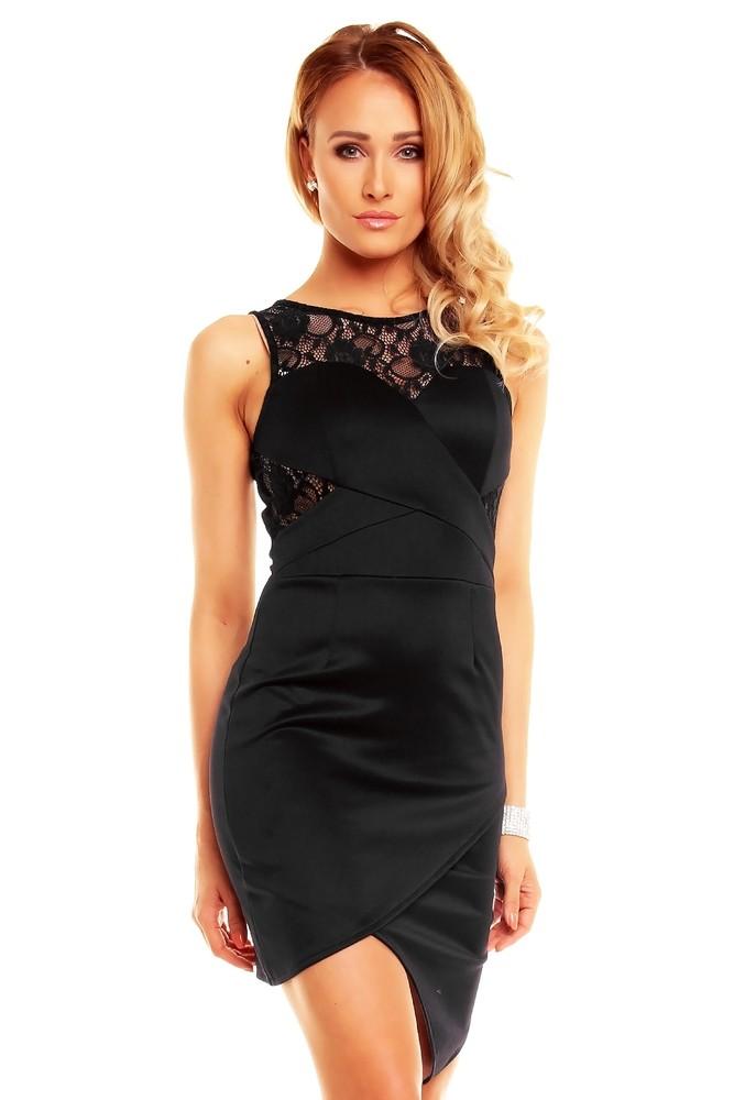 Černé koktejlové šaty - EU - Večerní šaty a koktejlové šaty - i-moda.cz 343f5ff322