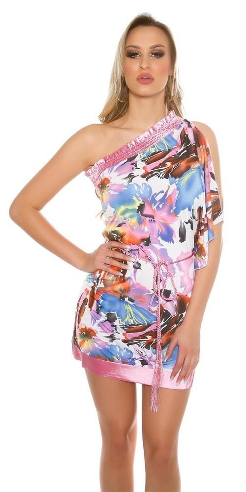 a0100804561 Dámské šaty s květinovým potiskem - Koucla - Krátké letní šaty - i ...