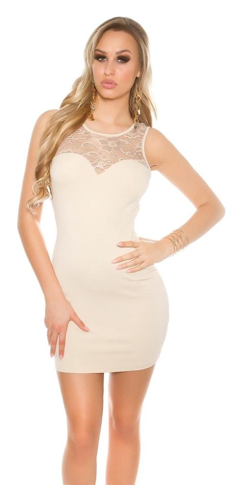 Dámske mini šaty s čipkou - Koucla - Večerné šaty a koktejlové šaty ... 6885095f7a2