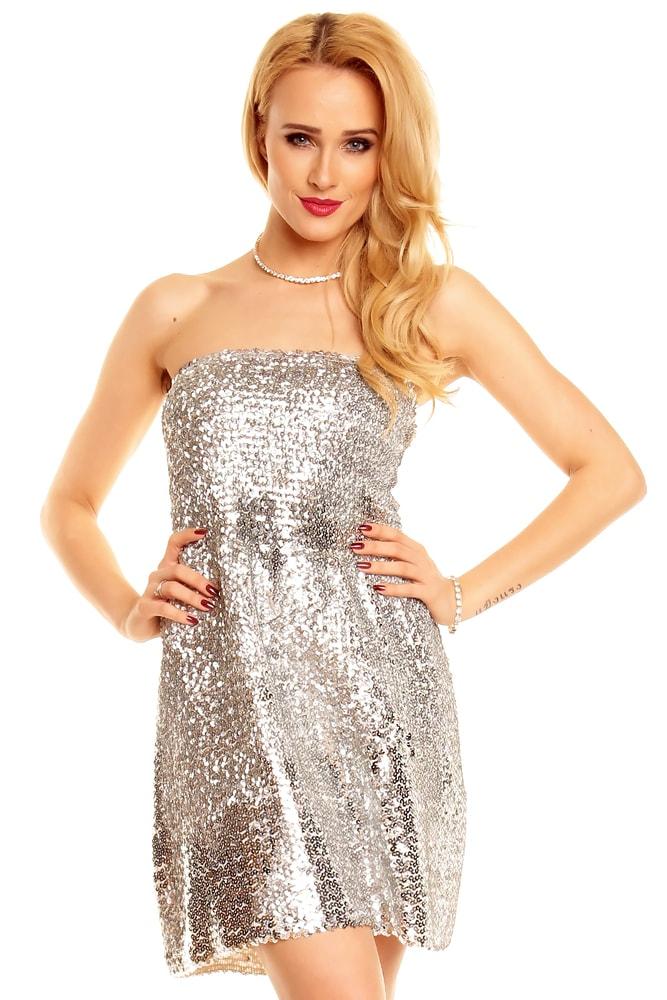 Večerní minišaty stříbrné - Ethina - Večerní šaty a koktejlové šaty - i ... 58effd781e