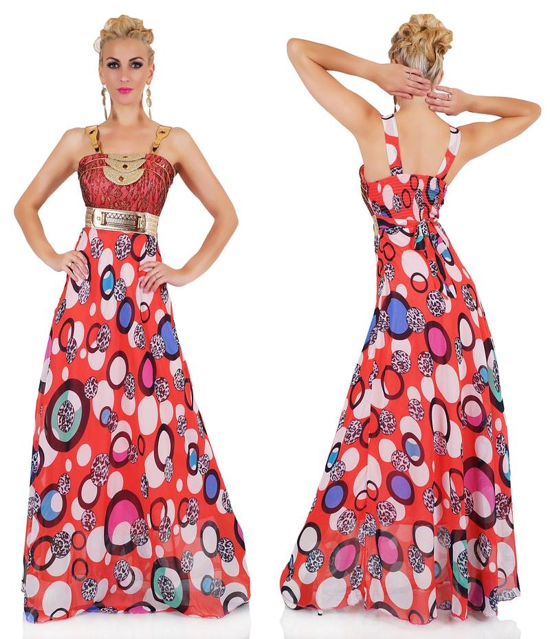 Extravagantní dámské šaty - červené - EU - Večerní šaty a koktejlové ... 63b2e83292