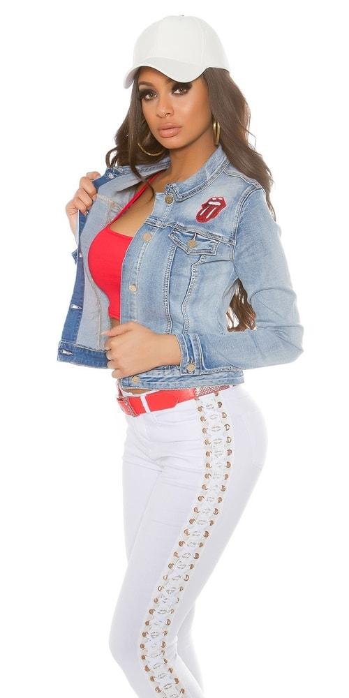 Dámska džínsová bunda - L Koucla in-bu1072