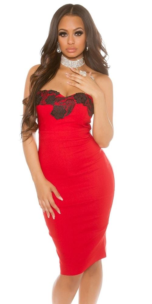 Puzdrové šaty červené Koucla in-sat1221re 8daacda82a7