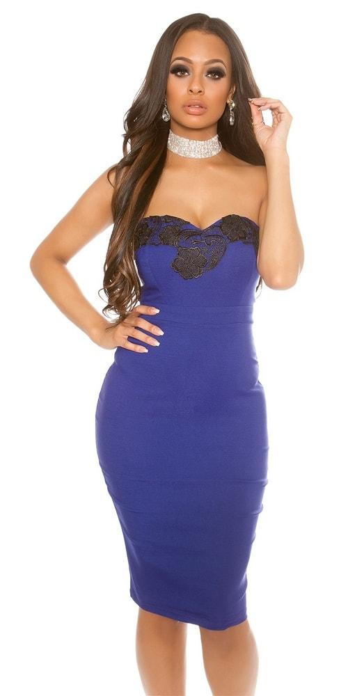 Puzdrové šaty modré - Koucla - Večerné šaty a koktejlové šaty - vasa ... 9773407d5ba