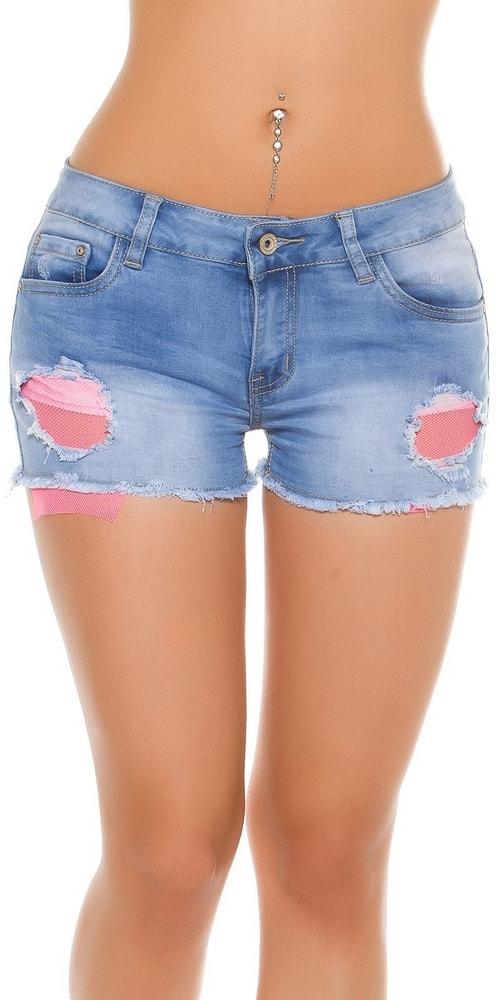 Dámske jeans kraťasy - XL Koucla in-ka1190