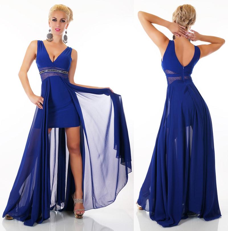 Plesové šaty - modré - EU - Krátke plesové šaty - vasa-moda.sk d13cca59fd