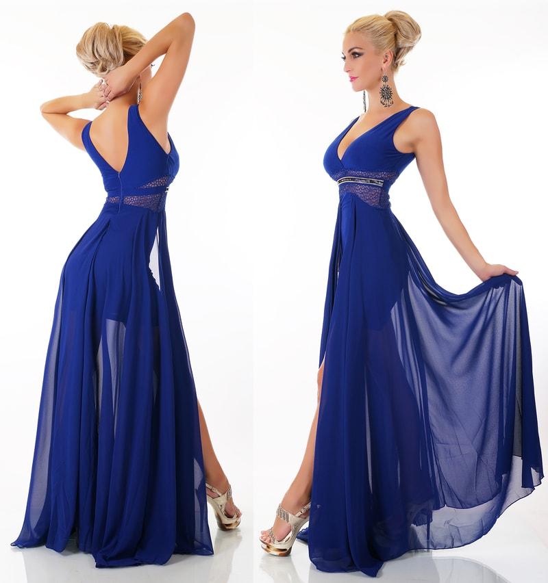Plesové šaty - modré - EU - Krátke plesové šaty - vasa-moda.sk 01a0d7443d