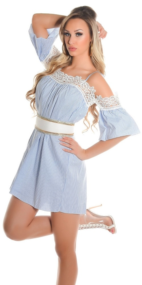 Dámske letné šaty na ramienka - Koucla - Krátke letné šaty - vasa ... 44492d0abad