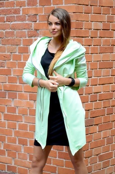 Športový dámsky kabátik s kapucňou - EU - Dámske kabáty jesenné ... 156f0ec809d