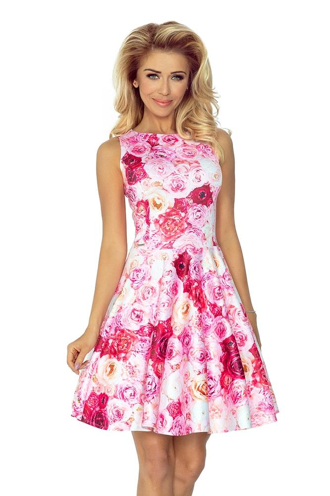 Kvetované dámske šaty 125-16 - Numoco - Krátke letné šaty - vasa ... 93985e95629