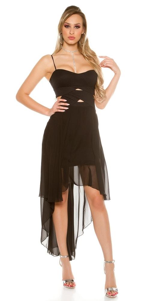 97fba682936 Čierne plesové šaty - Koucla - Krátke plesové šaty - vasa-moda.sk