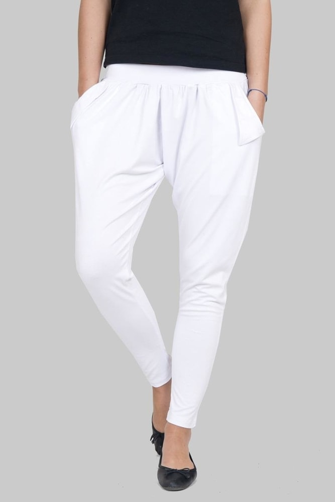 Dámske voľnočasové nohavice Kesi ks-ka51074wh