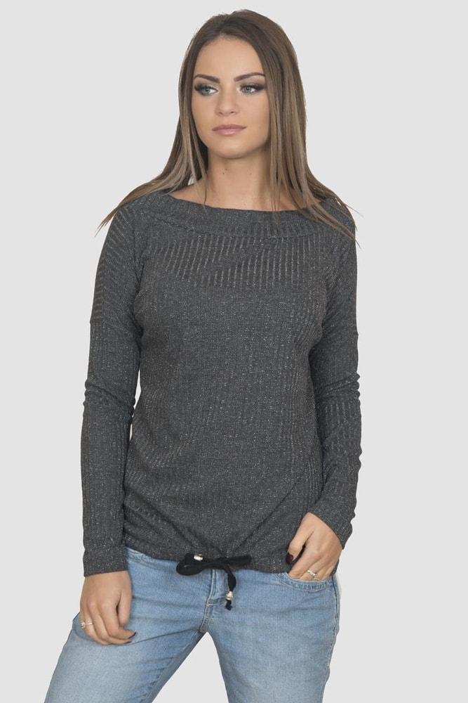 Tmavo šedé dámske tričko Kesi ks-tr60194tg