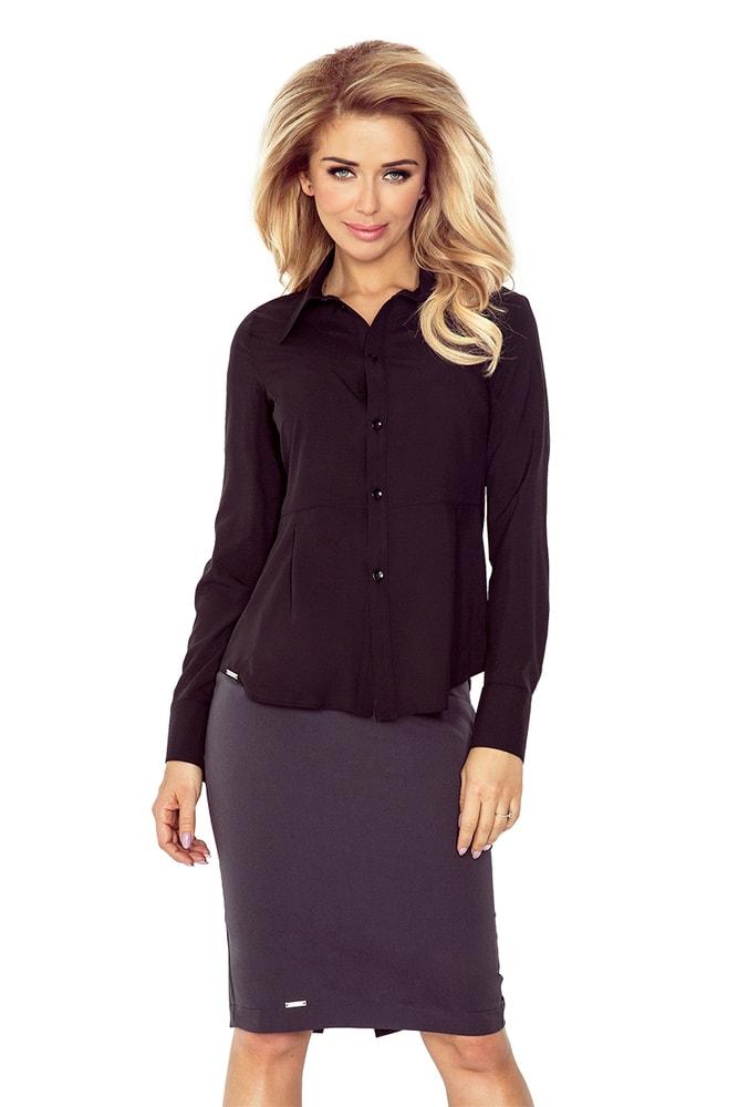 Černá dámská košile MM 016-3 - morimia - Dámské košile - i-moda.cz f5943cf710