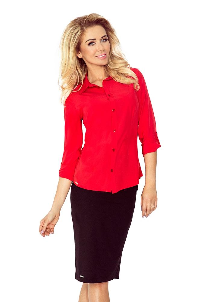 3d0882da047 Červená dámská košile MM 017-1 - morimia - Dámské košile - i-moda.cz
