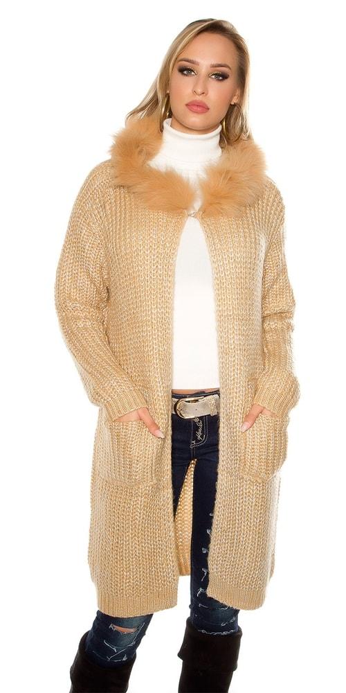 Dámský kardigan s kapucí - Koucla - Cardigany dámské - i-moda.cz 9876f07116