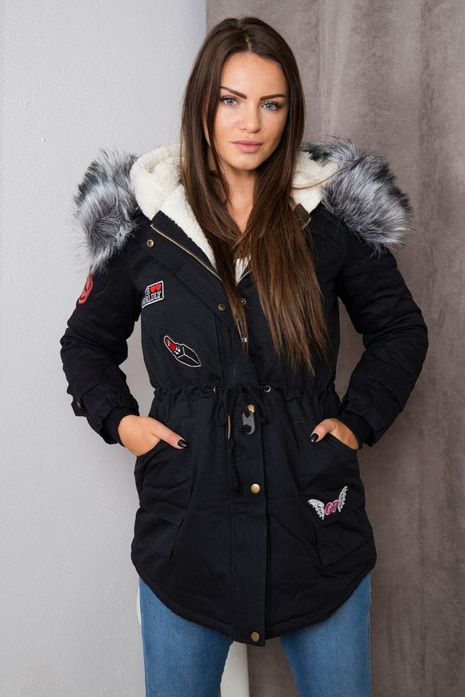 Zimná parka s kapucňou - XXXL Kesi ks-bu1666bl
