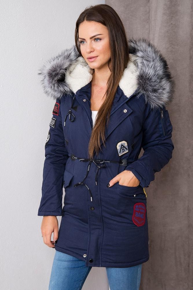 Dámska zimná bunda s kapucňou - XXXL Kesi ks-bu1608tmo