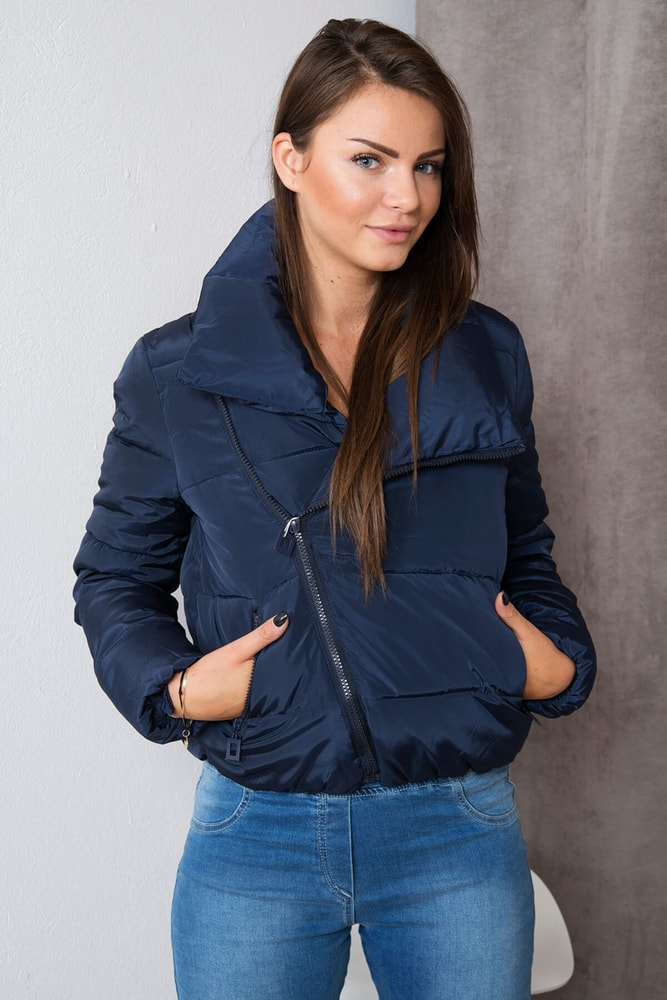 Krátka zimná dámska bunda - L Kesi ks-bu1605mo