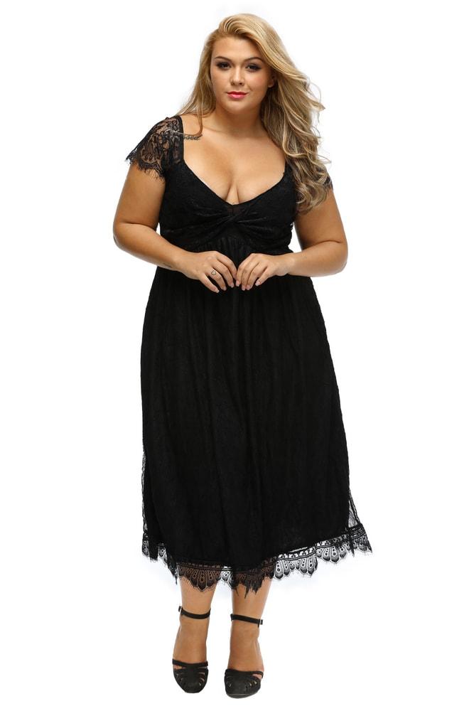 bae395b7d8f Dámské šaty XXL - DAMSON - Společenské šaty pro plnoštíhlé - i ...