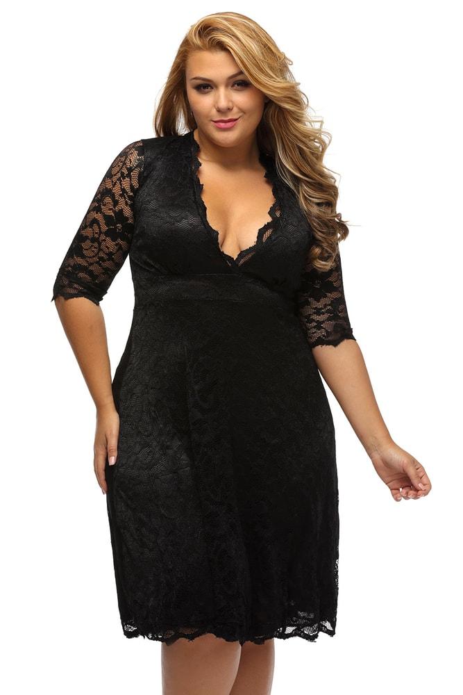 Večerní šaty pro plnoštíhlé - DAMSON - Společenské šaty pro ... 9e4b4f5f80
