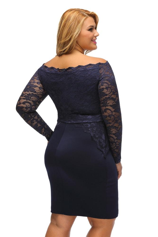 Šaty do společnosti pro plnoštíhlé - DAMSON - Společenské šaty pro ... b0b7897ed3