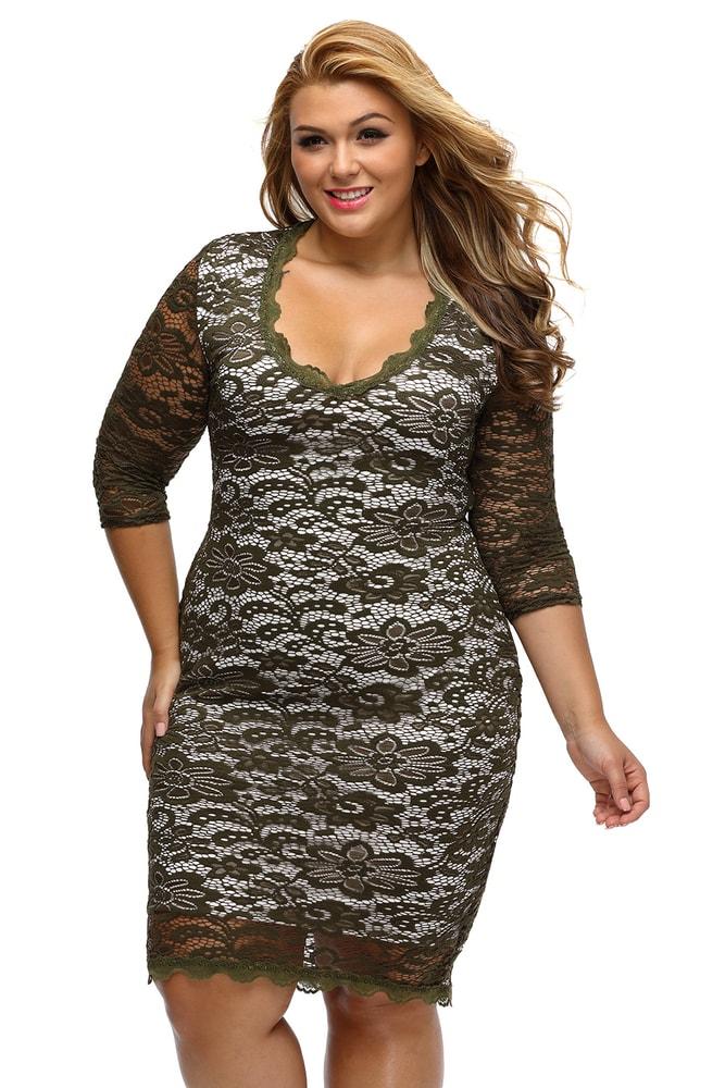 Spoločenské šaty XXL - DAMSON - Spoločenské šaty pre plnoštíhle ... 018acec3999