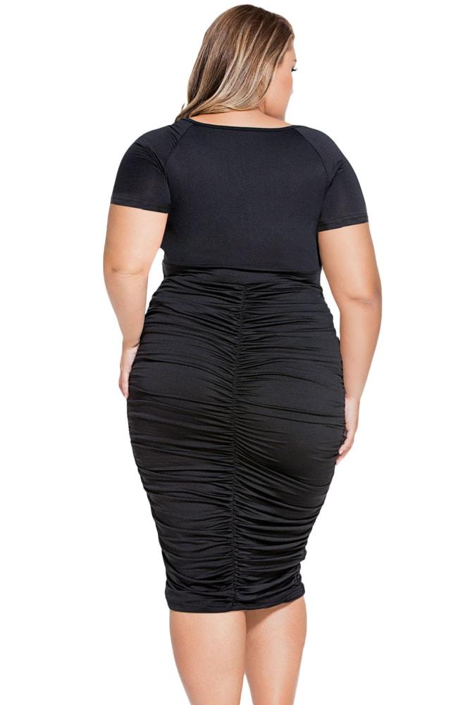 Čierne šaty XXL - DAMSON - Spoločenské šaty pre plnoštíhle - vasa ... 95e8bac2692