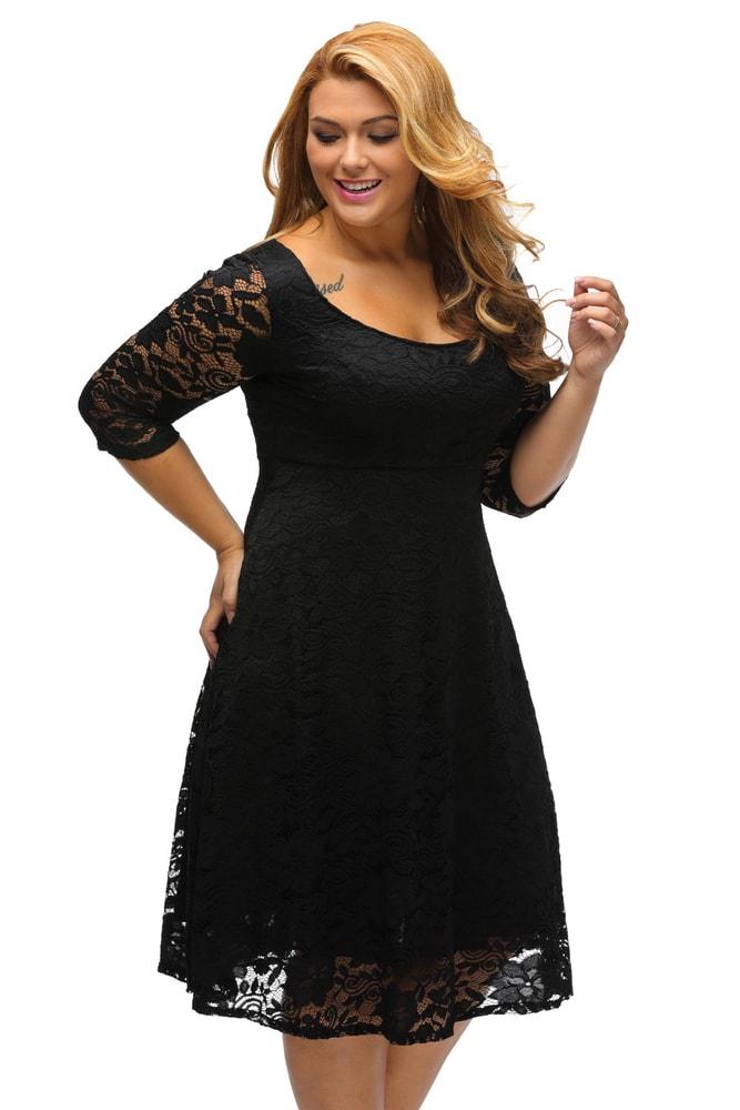 Večerné šaty pre plnoštíhle - DAMSON - Spoločenské šaty pre ... fca7895c52b