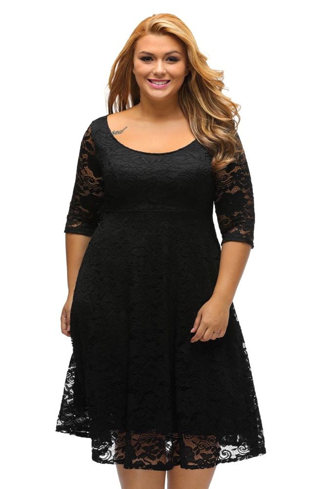 Večerní šaty pro plnoštíhlé - DAMSON - Společenské šaty pro ... ca6db7fb88