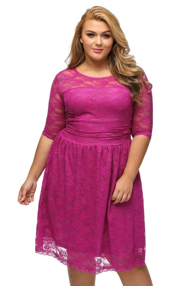 c750ac5248f Krajkové šaty pro plnoštíhlé - DAMSON - Společenské šaty pro ...