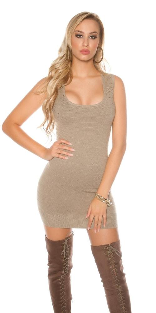 59e03bdec82 Dámske úpletové mini šaty Koucla in-sat1683ta