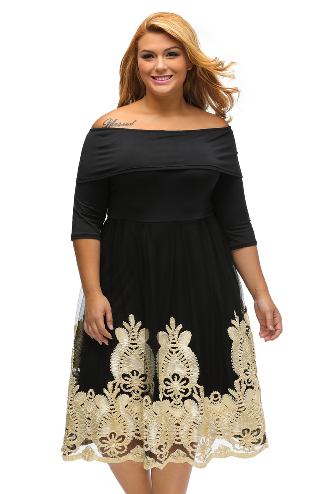 Společenské šaty pro plnoštíhlé - DAMSON - Společenské šaty pro ... 45cb424769