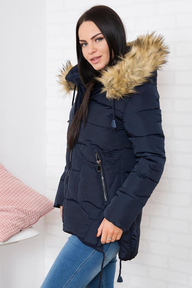 Modrá zimná bunda - M Kesi ks-bu759tm