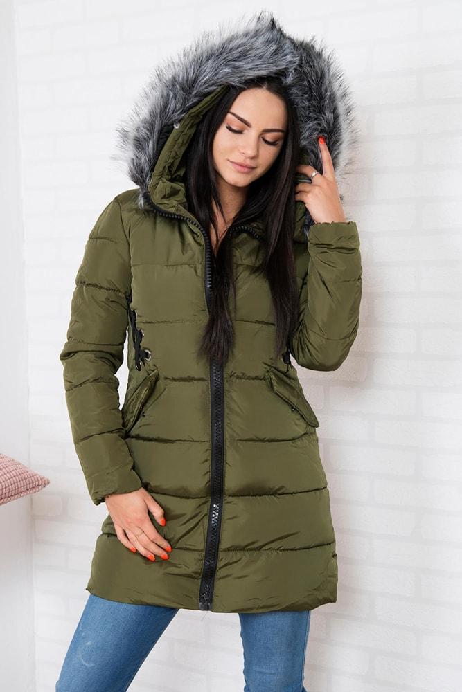 Zimná dámska bunda s kapucňou - Kesi - Bundy dámske zimné - vasa ... 83002df83e3