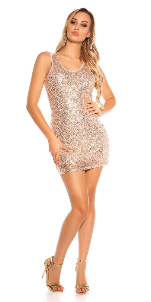 Party mini šaty s flitrami - Koucla - Párty šaty - vasa-moda.sk 99928c57db1