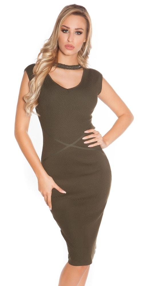 Úpletové elegantné šaty - Koucla - Úpletové šaty - vasa-moda.sk 18249ae74b8
