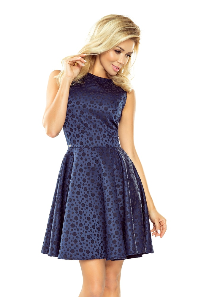 Tmavo modré dámske šaty - L Numoco nm-sat125-22 3393b15970f