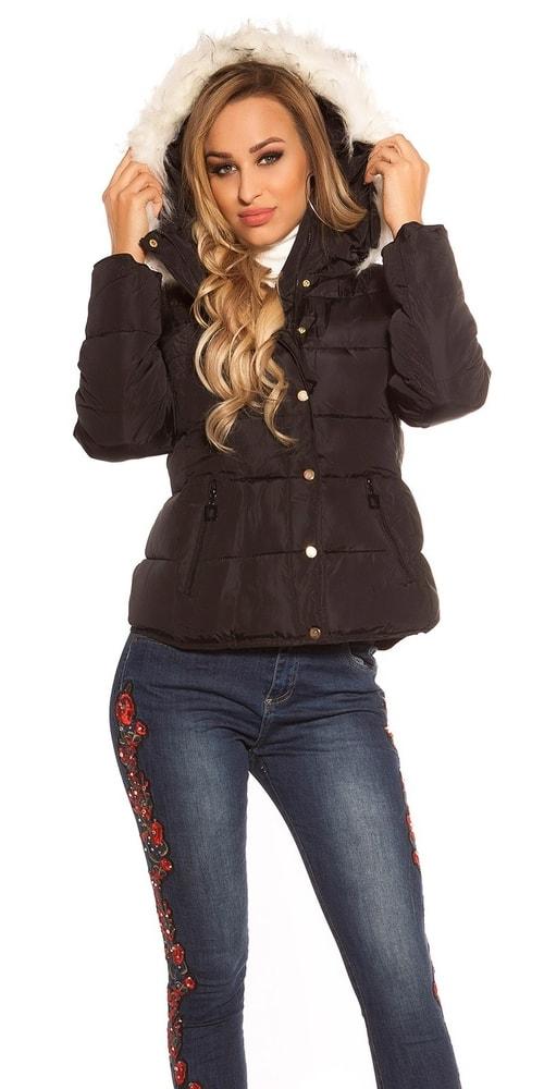 Dámska zimná bunda Koucla in-bu1097bl
