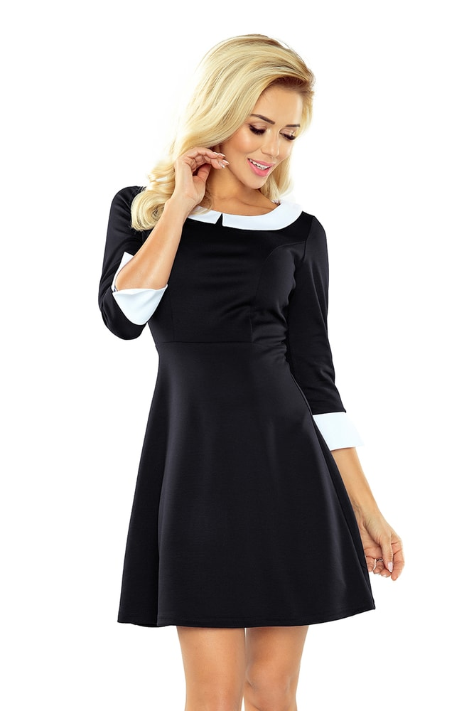 6aa226bc8 Dámske elegantné šaty s golierom - L Numoco nm-sat162-1