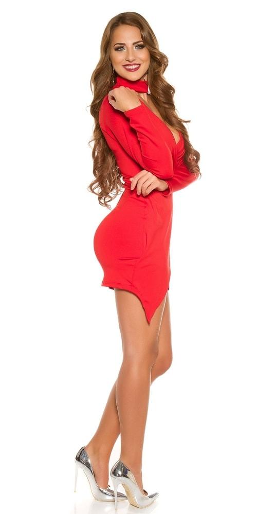 Červené mini šaty - Koucla - Puzdrové šaty - vasa-moda.sk 52f904c947d