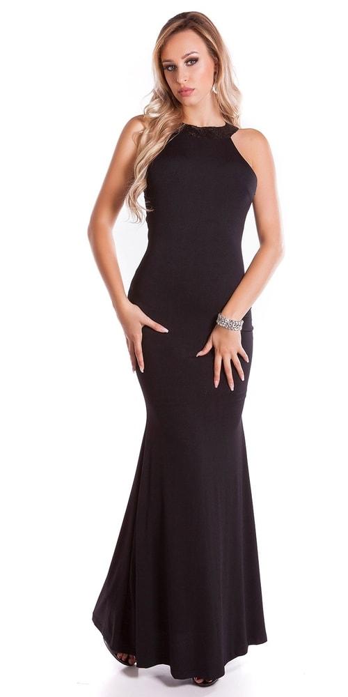 b4154947535 Čierne dlhé šaty - Koucla - Dlhé plesové šaty - vasa-moda.sk