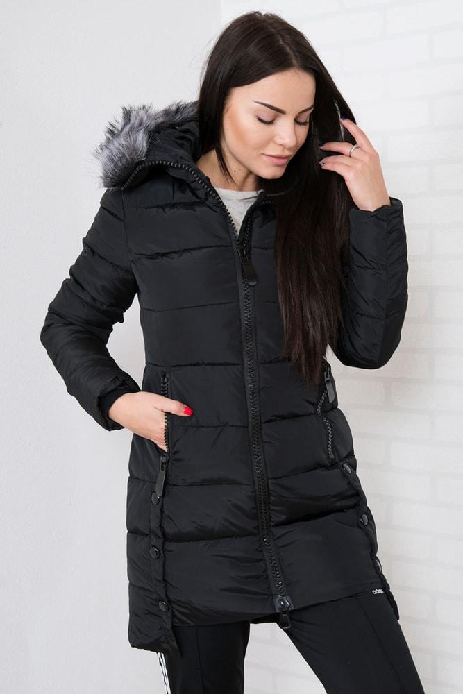 Zimná bunda s kapucňou - M Kesi ks-bu8806bl