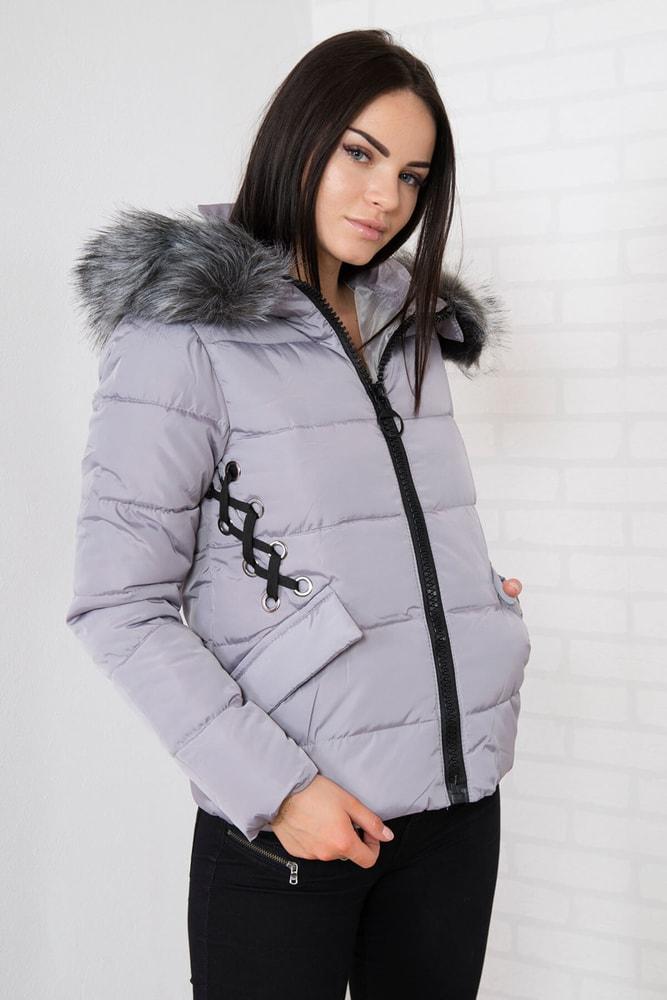 Krátka zimná bunda - xxxl Kesi ks-bu2662gr-k